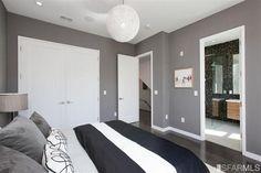 Traditional Master Bedroom with World market - gray velvet throw pillows, Nuevo living - string modern pendant lamp