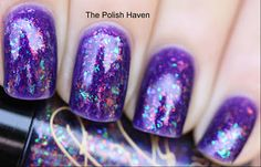 Cult Nails - Clairvoyant over Sally Hansen purple pizzazz