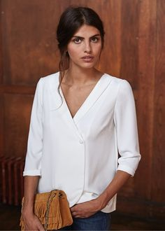 Collection Automne / Moodboard 1 - The Walk Blouse Alyssa www.sezane.com…
