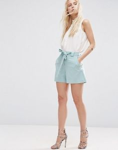ASOS High Waist Short with Belt