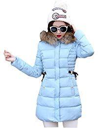ddae364e9ab12 Ghope mid-long Manteau Automne ou Hiver Femme Jacket Elegant Long Veste à  Capuche Fourrure