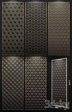 3d models: 3D panel - Decorative panel Laser Cut Screens, Laser Cut Panels, 3d Panels, Metal Panels, Window Grill Design, Screen Design, Gate Design, Home Staging, Temple Design For Home