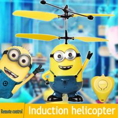The Most Funny Toy Remote Control RC Despicable Me Minion Helicopter Quadcopter Drone Ar.drone VS mjx x101 syma x5c-in RC Helicopters.  $8.48