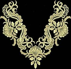DJEBA BRODERIE Tambour Embroidery, Embroidery Works, Shirt Embroidery, Machine Embroidery Patterns, Ribbon Embroidery, Lace Stencil, Baroque Pattern, Lace Making, Rangoli Designs