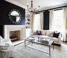 Wohnzimmer schwarz-weiß