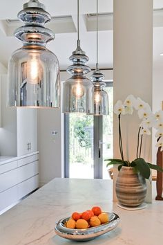 10 Awesome Kitchen Lighting Projects To Update The Spa In Y.- 10 Awesome Kitchen Lighting Projects To Update The Spa In Your Home Kitchen Lighting Design, Kitchen Lighting Fixtures, Kitchen Pendant Lighting, Kitchen Pendants, Interior Lighting, Interior Design Kitchen, House Lighting Design, Kitchen Island Lighting Uk, Lights For Kitchen