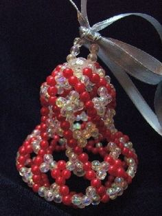 Christmas craft from beads.