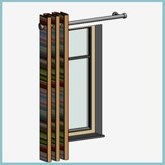 Single Curtain (Autodesk Revit Architecture 2012 Families) - urBIM Revit Components Revit Architecture, Outdoor Structures, Curtains, Model, Families, Blinds, Scale Model