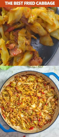 This fried cabbage recipe is insanely good! made with bacon onion bell pepper and a touch of hot sauce it is easy to make simple and comes out perfect every time! recipe pappadeaux s lump crab meat spinach au gratin Side Dish Recipes, Vegetable Recipes, Low Carb Recipes, Diet Recipes, Vegetarian Recipes, Cooking Recipes, Healthy Recipes, Ark Recipes, Lunch Recipes
