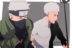 Kakashi and Obito Anime Naruto, Naruto Shippuden, Boruto, Kakashi And Obito, Sasuke, Sasunaru, Ninja, Team Minato, Loki Drawing