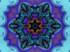 Sorry for submitting 3 dev's all at once, couldn't decide which to post, so ended up putting all of 'em on here in one go . Six Hearts Fractal Design, Fractal Art, Kaleidoscope Images, Weird Art, Strange Art, Creatures Of The Night, Psychedelic Art, Summer Garden, Geometric Art