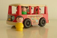mini bus #fisher_price #little_people #vintage