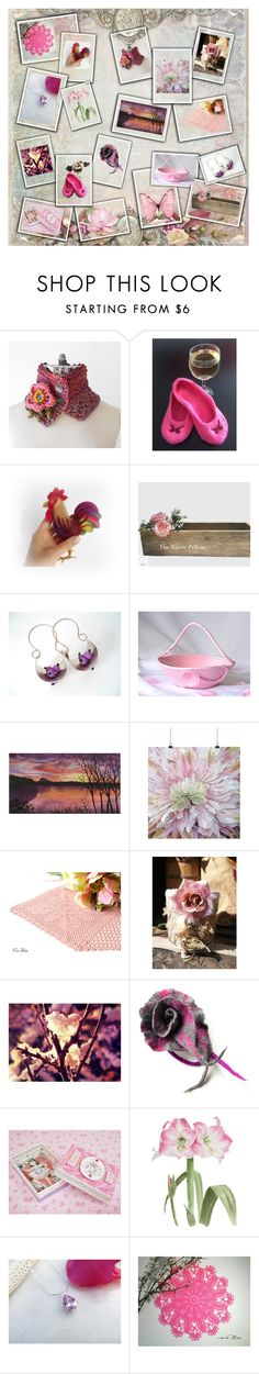 """""""Pink-a-licious"""" by jarmgirl ❤ liked on Polyvore featuring Wild Rose, Hostess and Rustico"""