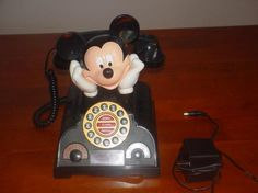CUTE !! MICKEY MOUSE TELEPHONE/ ALARM CLOCK/RADIO FREE SHIPPING !!