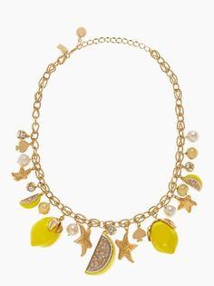 kate spade NEW YORK - lemon tart charm necklace