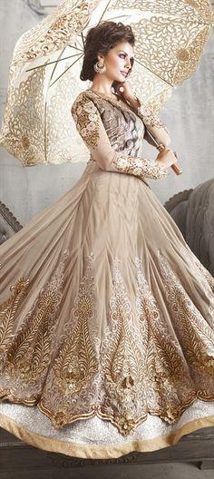 #anarkali #beige #embroidery