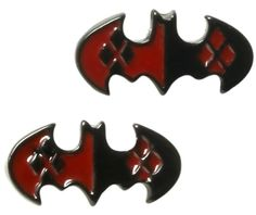 Harley Quinn Batman Logo Earrings - to go with the gay and shoes!! Shirts and socks!!!