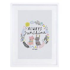 Kinderzimmerbild 'Always Sunshine' pastell 30x40cm