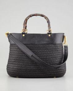 Eric Javits Analu Squishee Tote Bag, Black - Neiman Marcus
