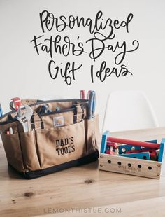 Daddy and Me Tool Kits for Father's Day - First Father's Day Gift Idea... Personalized gifts are the best! Perfect for a handy dad Diy Father's Day Gifts, Craft Gifts, Polka Dot Bags, Personalized Fathers Day Gifts, Grilling Gifts, First Fathers Day, Kids Writing, Free Gift Cards, Online Gifts