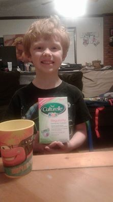 I was chosen by @smiley360 to try this out via #freesample and IT IS AMAZING!  This is my 5 year old son in the picture but my 2 year old daughter had bad bowel problems (constipation) when this came in and it helped her SO much.  This will be a staple in our pantry from now on.  I am so thankful for this product.