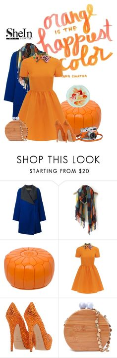 """""""Orange is the happiest color!"""" by jayheidi ❤ liked on Polyvore featuring Etro, Valentino, Hermès, Casadei, women's clothing, women, female, woman, misses and juniors"""