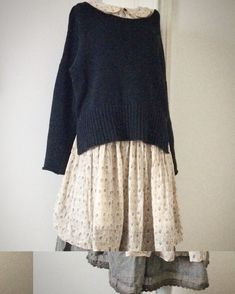 Mori girl style - Great loose layering. #mori