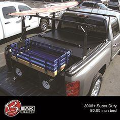 Bak Industries BAKFlip Hard Folding Truck Bed Cover and Sliding Rack System, Black Pickup Bed Covers, Truck Bed Covers, Truck Bed Rails, Tonneau Cover, Custom Canvas, Paddle Boarding, Pick Up, Kayaking, Trucks