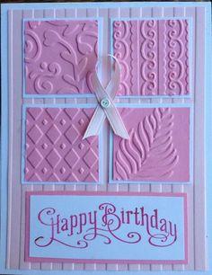 Pink embossed card