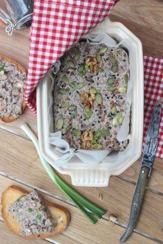 Terrine végétale ... châtaignes, champignons & noix au miso
