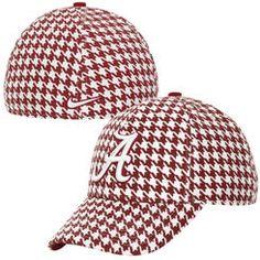 Nike Alabama Crimson Tide Dri-FIT Swoosh Flex Hat - Crimson Houndstooth