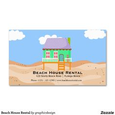Sold #Beach #House #Rental Business Card. Available in different products. Check more at www.zazzle.com/graphicdesign