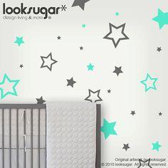 Children Wall Decals  Children Wall Stickers  stars by looksugar, $28.00