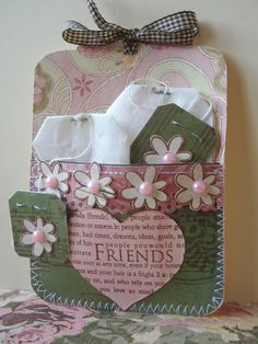friends tea pocket card by Jacqueline