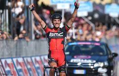 Because it felt so good the first time! @PhilippeGilbert goes 'arms-up' again with a Stage18 #Giro win