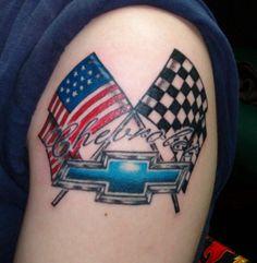 Chevy/Flag tattoo