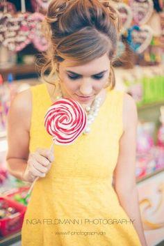 Lolipop, Zuckerwatte, Süßigkeiten,  Jahrmarkt, Rummel, Portrait
