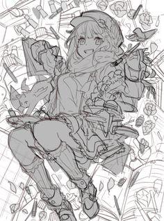 表現したい世界を描こう!Mika Pikazoさんがコンセプト&ラフ工程を解説! | イラスト・マンガ描き方ナビ Reference Manga, Anime Poses Reference, Manga Art, Anime Art, Character Inspiration, Character Art, Drawing Sketches, Drawings, Art Poses