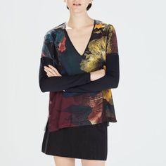 Zara top Comfy and silky。 Zara Tops Blouses