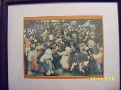 Wedding Dance By Pieter Bruegel 125 People In Artwork Original Valued At 600 Million