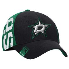 Dallas Stars Reebok Youth 2016 NHL Draft Structured Flex Hat - Black Green   DallasStars 9797c26db226