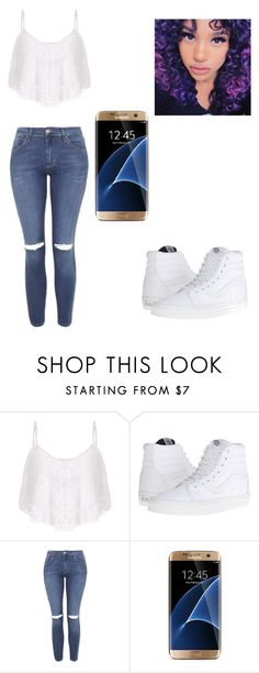 """""""Color me blank"""" by qveenbonly on Polyvore featuring SocialEyes, Vans, Topshop and Samsung"""