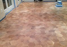 Special Delivery: Nearly 4,500 Pieces in Hexagonal End-Grain Floor - Wood Floor Business Magazine