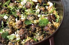 Lamb meatballs with spinach and orzo Greek(-ish) One-Pot Workhorse That Feeds You All Week Long on Orzo Recipes, Spinach Recipes, Greek Recipes, Dinner Recipes, Cooking Recipes, Healthy Recipes, Food52 Recipes, Dinner Ideas, Turkey Recipes