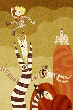 Redesign de cartazes de Beetlejuice.