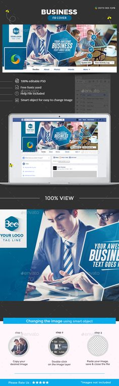 Business Facebook Cover Template PSD. Download here: http://graphicriver.net/item/business-facebook-cover/16076152?ref=ksioks
