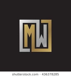 MW initial letters looping linked square elegant logo golden silver black background Hand Lettering Fonts, Cool Lettering, Initials Logo, Monogram Logo, Logo Image, Yoga Drawing, Hippie Wallpaper, Clever Logo, Elegant Logo
