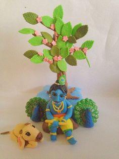 Fondant Rose, Fondant Baby, Fondant Cakes, Baby Krishna, Lord Krishna, First Birthday Cakes, Themed Cakes, First Birthdays, Food