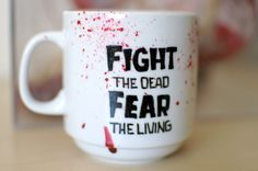 The Walking Dead Blood Spatter Mug by abirdinthehand on Etsy, $15.00