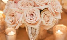 Decoração de Casamento : Paleta de Cores Blush e Dourado